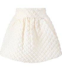 simonetta ivory skirt for girl with logo
