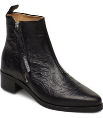 elite wildflower ankle boot shoes boots ankle boots ankle boots with heel svart royal republiq