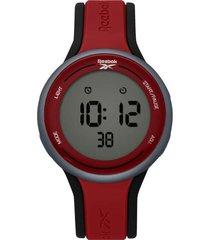 reloj rojo reebok elements unisex digital