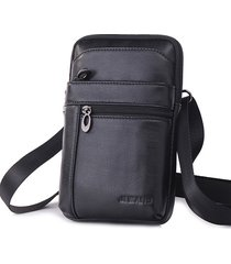 vera pelle business casual multifunzionale 7 pollici telefono borsa vita borsa crossbody borsa for men