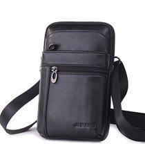 vera pelle business casual multifunzionale 7 pollici telefono borsa vita borsa crossbody borsa for men