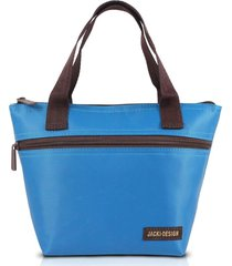 bolsa tã©rmica pequena com alã§a jacki design essencial turquesa - azul - dafiti