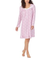 eileen west women's cotton lace-trim nightgown