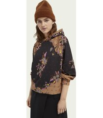 scotch & soda all over printed statement hoodie