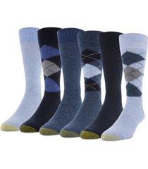 gold toe men's 6-pack campbell argyle socks