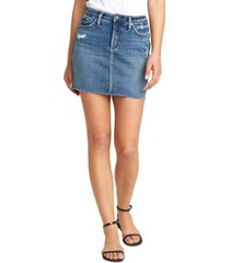 silver jeans co. francy denim mini skirt