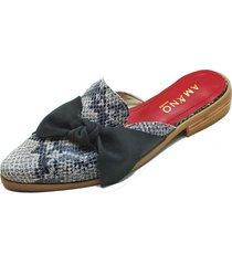 babucha nudo piton negro amano shoes
