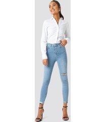 trendyol milla skinny cropped jeans - blue