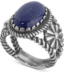 american west lapis lazuli ring (5-1/5 ct. t.w.) in sterling silver