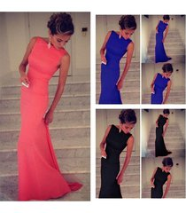 women's long bodycon prom ball cocktail dress party maxi formal evening gown