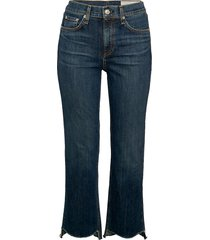 rag & bone women's high-rise stovepipe jeans - indigo blue - size 24 (0)
