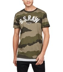 g-star raw men's camouflage logo t-shirt
