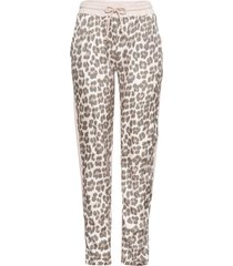 pantaloni casual in fantasia animalier (rosa) - bodyflirt