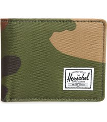 men's herschel supply co. hank rfid bifold wallet - green