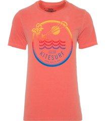 t-shirt masculina tinturada lobo do mar - laranja