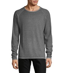 two-tone raglan sleeve sweater