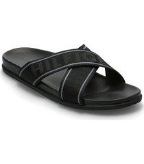 hilfiger webbing sandal shoes summer shoes sandals svart tommy hilfiger