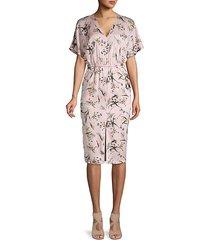 floral-print shift dress