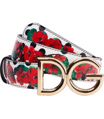 reversible print leather belt