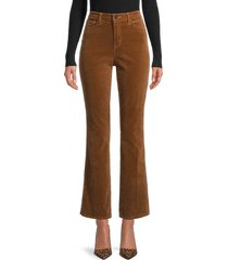 l'agence women's oriana ankle-cropped bootcut jeans - dark copper - size 23 (00)