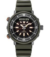 seiko men's analog-digital prospex diver solar black rubber strap watch 47.8mm