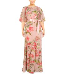 adrianna papell plus size cowlneck gown