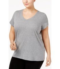hue plus size v-neck pajama top