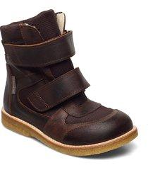 boots - flat - with velcro vinterkängor med kardborreband brun angulus