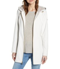 women's gallery half-belt hooded soft-shell jacket, size xx-large - ivory