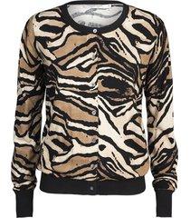 vest tiger bruin