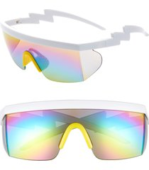 rad + refined sport shield sunglasses in yellow/white at nordstrom
