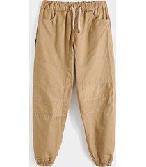 koyye hombres hip hop llanura cremallera frente casual pantalones