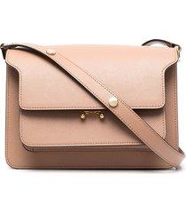 marni trunk multi-pocket shoulder bag - brown