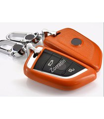luxury real leather key case cover for bmw x5 x6 f15 f16 2015 2016 2017(1 set co