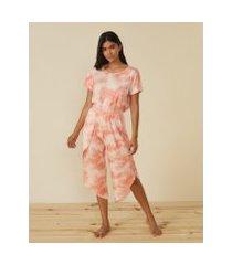amaro feminino calça pantacourt pijama tie dye, colorido
