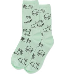 hot sox women's cat novelty crew socks