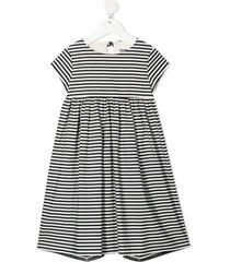 touriste horizontal-stripe dress - black