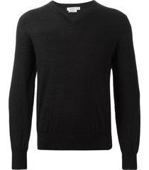 fashion clinic timeless v-neck sweater - black