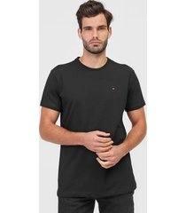 camiseta tommy hilfiger logo preta