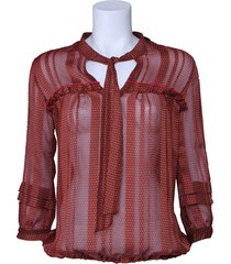 blouse amy gee - gestipt - rood
