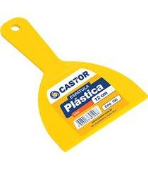 espátula em plástico 12cm amarela
