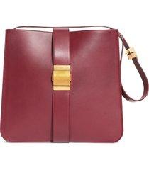 bottega veneta marie leather shoulder bag - burgundy