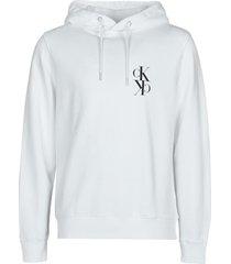 sweater calvin klein jeans back mirrored monogram hoodie