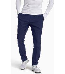 afkledende geweven jackpot golfbroek voor heren, blauw, maat 40/30 | puma