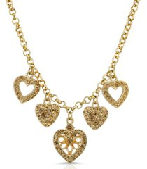 2028 light brown heart charm necklace