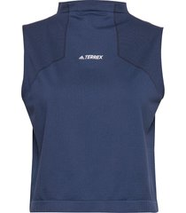 w zupahike tee t-shirts & tops sleeveless blå adidas performance