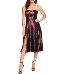women's dress the population ruby strapless sequin party dress