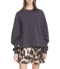 women's ganni isoli oversize cotton sweatshirt