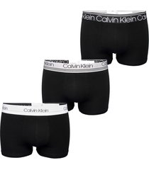 calvin klein 3 pack cotton stretch boxer briefs | black | 2337a-t6b