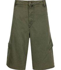 diesel d-krett wide-leg cargo shorts - green